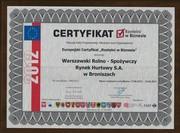 Awards europejski certyfikat rzetelni w biznesie 2012